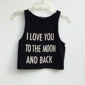 Forever 21 I Love You To The Moon and Back Tank L